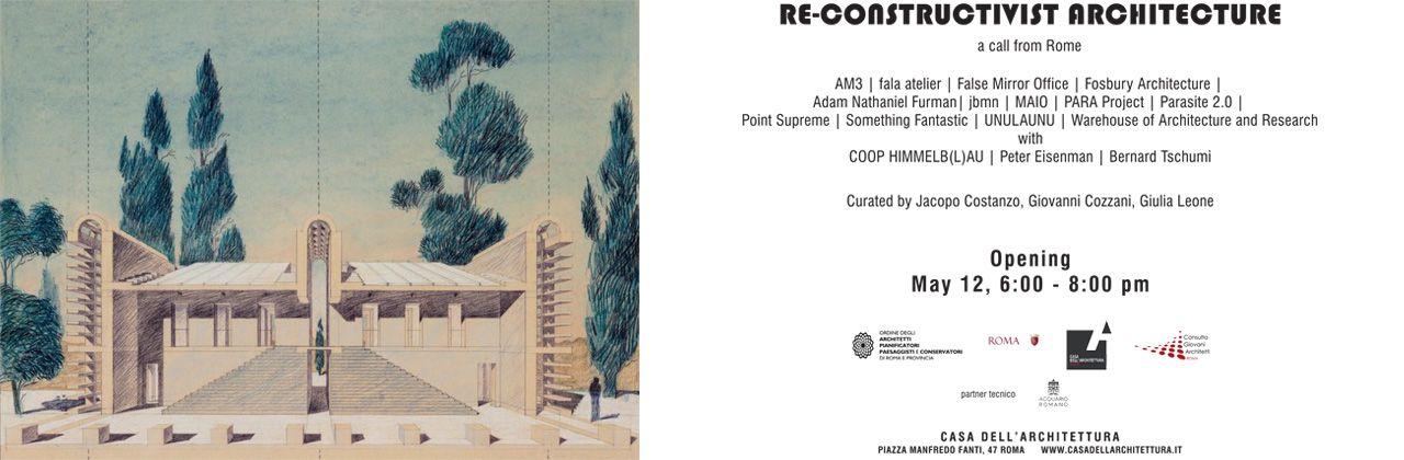 RE-CONSTRUCTIVIST ARCHITECTURE ROME